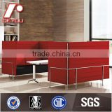 High Back Dining Room Designer Sofa, Modern High Back Loveseat, Modern Lobby Sofa Design SF-TF