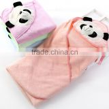 alibaba High quality factory supply 100% cotton kids hooded towel baby hooded baby bath towel
