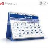 Desktop table spiral top Monthly calendar printing from India