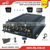 2015 top sale 4 ch free server software 3g gps tracker vehicle dvr with high quality ,VR8800-3GW
