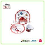 Lovely fine children dinner set, melamine dinner set brands, new design unbreakable melamine 5pcs children dinner set