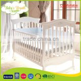WBC-40B comfortable solid wood baby swinging cots, swing baby bed with wheels                                                                         Quality Choice