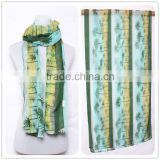 2015 Spring Cotton Scarf Coconut Trees Good Quality Women Scarf Customized Specifically for Japan