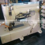 Three Needle Top Cover Stitch Machine with Safety Stitch for attaching Pocket Facings ATR-8842-1