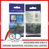 OEM standard TZ2-511 label tape for Brother labeling maker made in China black on Blue 6mm