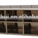 Medical factory general use stainless steel shoe cabinet with mirror or not