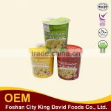 Fried Instant Cup Noodle 65g with one seasoning sachet and one dehydrated vegetable sachet
