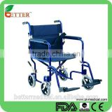 foldable light weight transfer wheelchair with safe belt