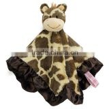 China factory little giraffe security baby blankets