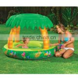 popular portable cute tree sunshade large baby safety inflatable swimming pool