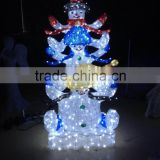 LED 2016 holiday time manufacturer lighted metal christmas snowman / led snowman motif lights