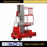 Single person drive aluminum vertical platform /non-scissors hydraulic lift with cheap price