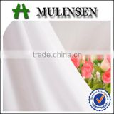 Mulinsen textile knitted vortex poly spun fabric/ jerseys export/ white polyester fabric dye