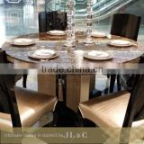Wholesale New Tassels solid wood dining table round table on alibaba new design JT17-01-JL&C furniture