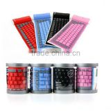 High quality Bluetooth Keyboard Silicone for Ipad/Colorful Flexible Keyboard Bluetooth /foldable Silicone Keyboard Bluetooth