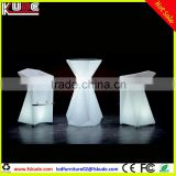 New arrival LED modern wine bar furniture/LED glowing cocktail table and chair for event