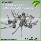 Prebuilt Fused Clapton Wire Flat Twisted Coil In Cheapest Price premade heating wires