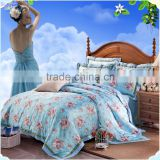 Hot sale christmas cheap custom printed 3d silk polyester patchwork hotel quilt with crochet flowers