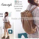 Fashion Korean Style Girls' PU Leather Backpack Schoolbag Shoulders Bag Camel / Coffee / White