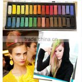Top selling 6/12/24/36 colors per set Temporary Color Hair Chalk In Gift Tin Ready colorful hair coloured hair chalk