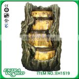 polyresin led light garden artificial rock waterfall