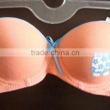 China fty breathable pretty cotton thin cup little young girl underwire bra or teens bra