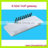 8 GSM VoIP gateway,support Call Back system