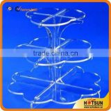 crystal acrylic wedding cake stand decoration , 3 tiers acrylic cake stand for party