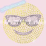 Hottest Sell Lovely Emoji smile face Rhinestone Iron-on Rhinestone Transfer Wholesaler #5