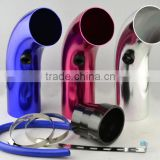 Universal Aluminum Air intake adjustable tube/cold Air intake pipe short type