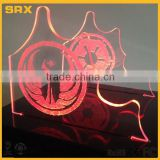 OEM LED Etched character Stand, Light and Dark Side Double Light Saber Etching Display, Battery Operated Stand