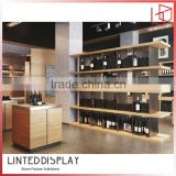 Branbed chateau top plywood made wine cabinet light brown color
