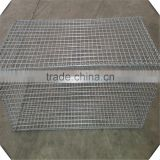high quality galvanized 100mm 75mm mesh size welded gabion mesh for sale