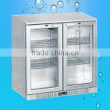 Glass door small Wine Display Cabinet wine cooler(ZQR-DP90CH)