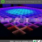 High lumen YG090E led light floor 15w square RGB mixing colorful changing dance floor