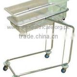 Baby Cot, Tiltable, Stainless Steel, Removable Basket