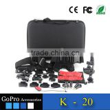 2016 hot selling products kit used for gopros heros 4 accessories bundle of camera cases