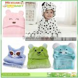 lovely custom animal shape coral fleece or cotton baby hooded bath towel