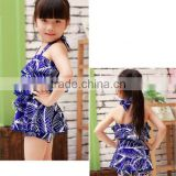 2015 design Kid Swimsuit One Piece Baby Girls beach Wear with cap