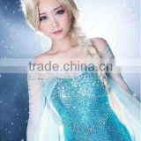 Princess Frozen Elsa Cosplay Anna Wig Brown Long Weaving Braid Costume Cosplay Wig with Free Hair Cap