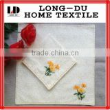 cheap lovely design ladies hand embroidery handkerchief