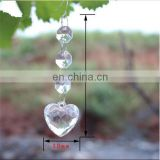 Clear Acrylic Crystal Beads Garland Chandelier Heart Pendant Hanging Wedding Decoration