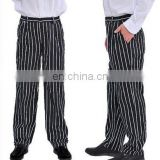 New fashion 100% cotton chef pants,chef uniform,baggy chef pants