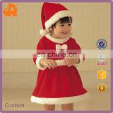 2016 Hot Sale Baby Girl Winter Christmas Red Santa Dress