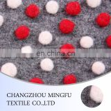 100% wool merino wool fabric with colored dots for winter coats