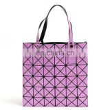 Laser Tote Bag Lady Geometry Plain Split Joint Shoulder Bags Women Sequins Handags