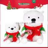 Cuddly Stuffed Christmas White Plush Polar Bear Animal Soft Toy