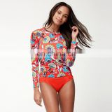 hot sale sublimation print rash guard sexy red long sleeve rash guard
