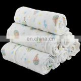 100% cotton printed mesh cloth baby diaper wrap