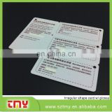 Custom plastic pvc barcode key tag,combo cards for sales